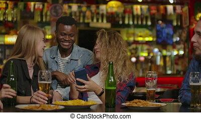 photo, compagnie, téléphone, amusement, bar., montres, sport