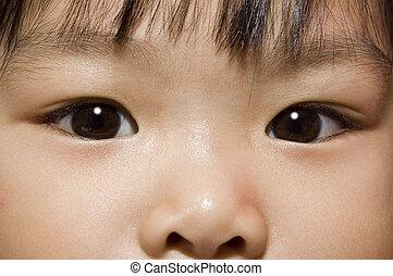 photo, concept, asiatique, eye.