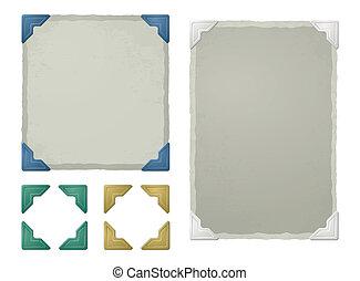 Photo corners - Vintage photo corners, frames