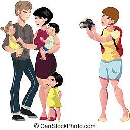 photo, couple, studio., jeune, heureux