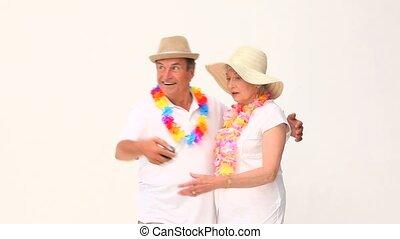 photo, couple, themself, prendre, mûrir