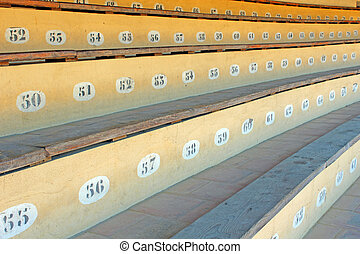 bullring seats - photo detail of bullring seats