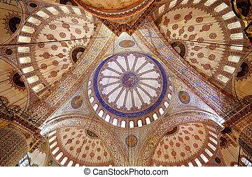 Photo dome in the Turkish mosque - Gorgeous photo of the...