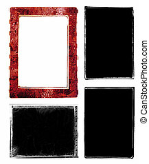 Photo edges and frames - Series of three darkroom 35mm film...