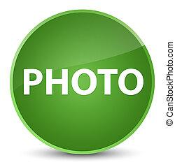 Photo elegant soft green round button