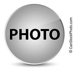 Photo elegant white round button