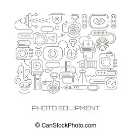 Photo Equipment vector illustration