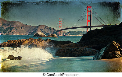 famous beautiful san francisco golden gate bridge
