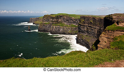 famous cliffs of moher seascape from the west ireland -...