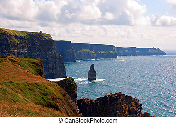 famous cliffs of moher,sunet capture,west of ireland