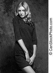 photo, femme, magnifique, jeune, mode