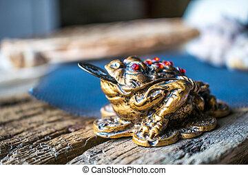 Photo feng shui frog.