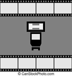 Photo flash icon. Vector illustration.