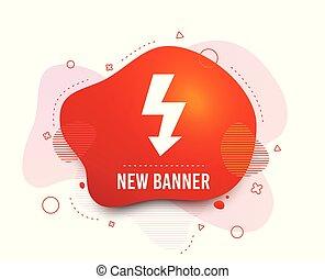 Photo flash sign icon. Lightning symbol. Vector - Fluid ...