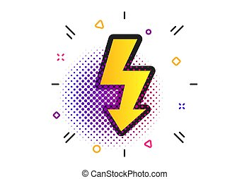 Photo flash sign icon. Lightning symbol. Vector - Photo ...