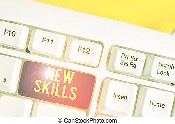 photo, fond, pc, au-dessus, blanc, vide, clavier, note, ...
