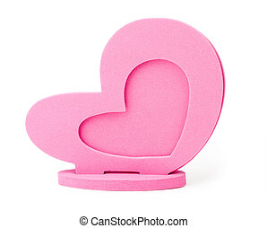 Photo Frame as the heart on a white background isolated