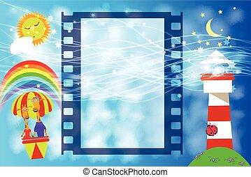 Photo Frame children s film . illustration