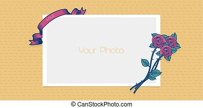 Photo frame collage vector illustration