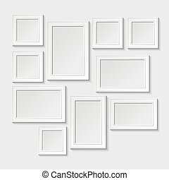 photo frame - Decorative template frame design on a wall for...