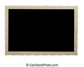 Photo frame  -  EMPTY photo,  isolated  on white background