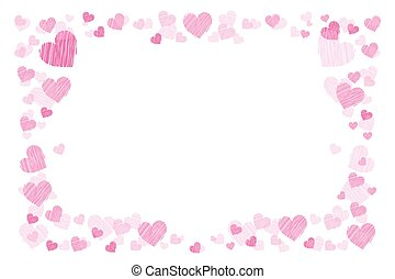 Photo frame. Hearts. for lovers