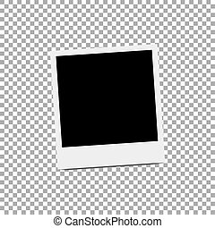 Photo frame icon isolated. Vector illustration