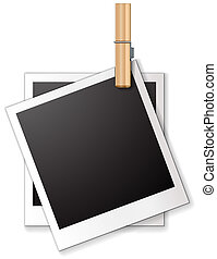 Photo frame - Ilustration of two blank frames
