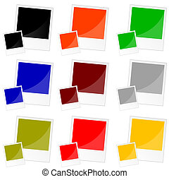 photo frame in color vector illustration
