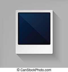 Photo frame in flat style