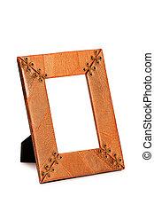 Photo frame isolated on the white background