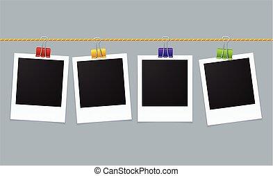 Photo Frame Line. Vector