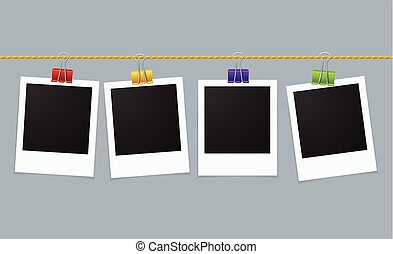 Photo Frame Line. Vector