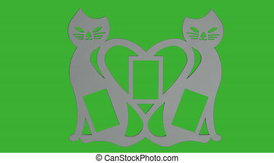 Photo Frame - Love, Valentine's Day Greetings - green screen