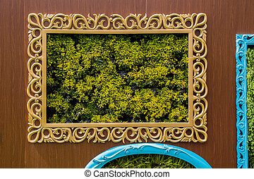 Photo frame made of wooden material