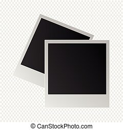 photo frame on a transparent background