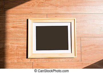 photo frame on floor