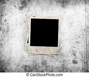 photo frame on grunge background