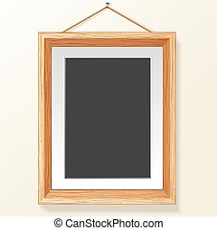 Photo Frame on Wall. Vector Image