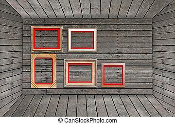 photo frame on wood wall
