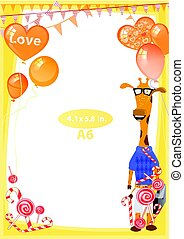 Photo frame orange. Standard size in inches