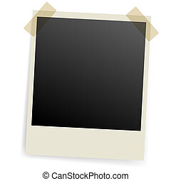 Photo frame. - Photo frame fixed with scotch on both sides.