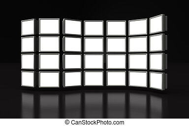 Photo frame projector display image in white space 3d ...
