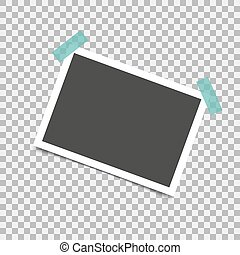 Photo frame retro with shadow. Vector illustration