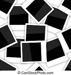Photo Frame Seamless Pattern on White