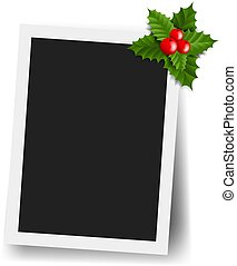 Photo Frame Set With Holly Berry