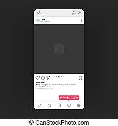 Photo frame. Social media UI, user profile photo interface,...