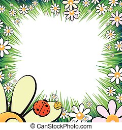 Photo frame summer. Vector
