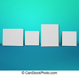 Photo frame templates. White canvas background
