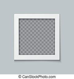 Photo frame vector realistic illustration
